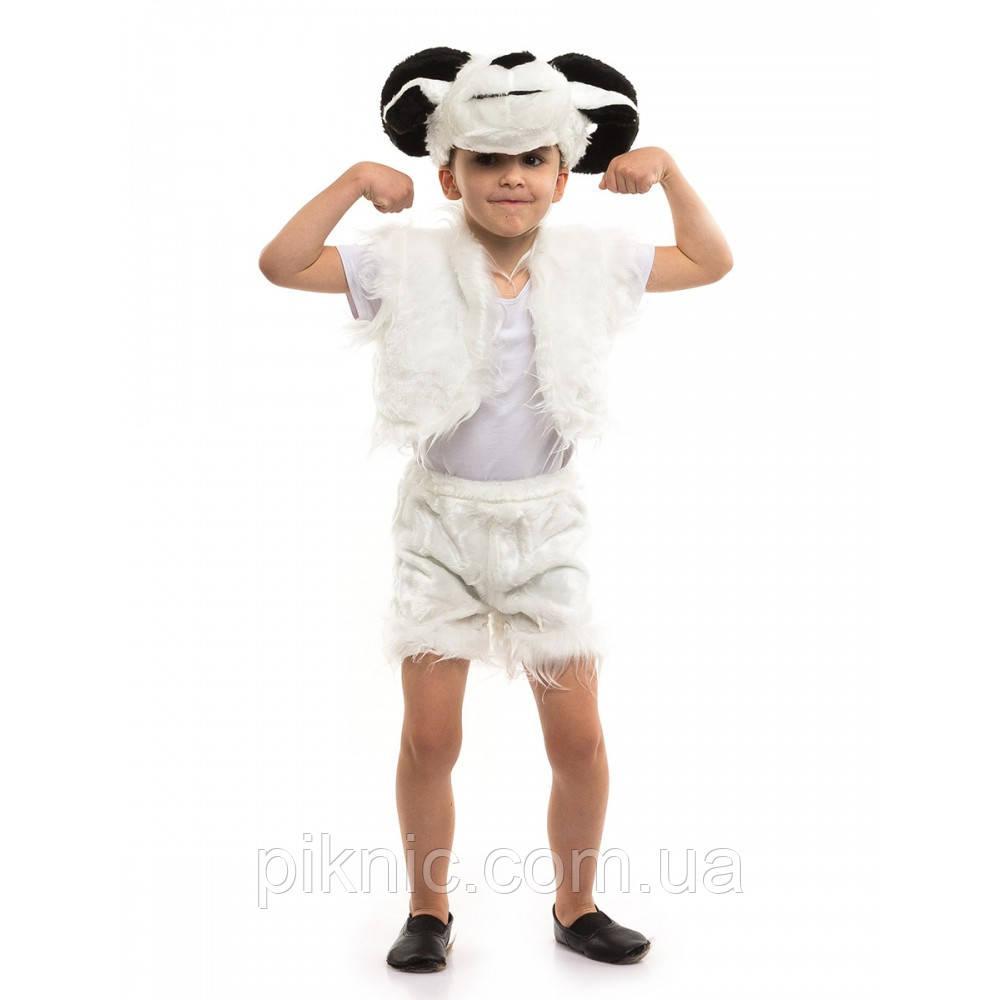 Костюм Баранчик для детей 3,4,5,6 лет. Детский новогодний карнавальный костюм Баран 342