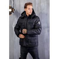 """Мужская куртка теплая зимняя черная """" Napapijri"""" 1152"""