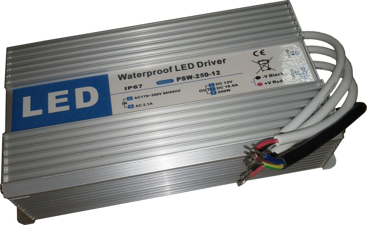 Влагозащищенный блок питания IP67 12 В - 300 Вт