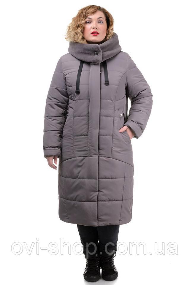 Женское пальто с мутоном