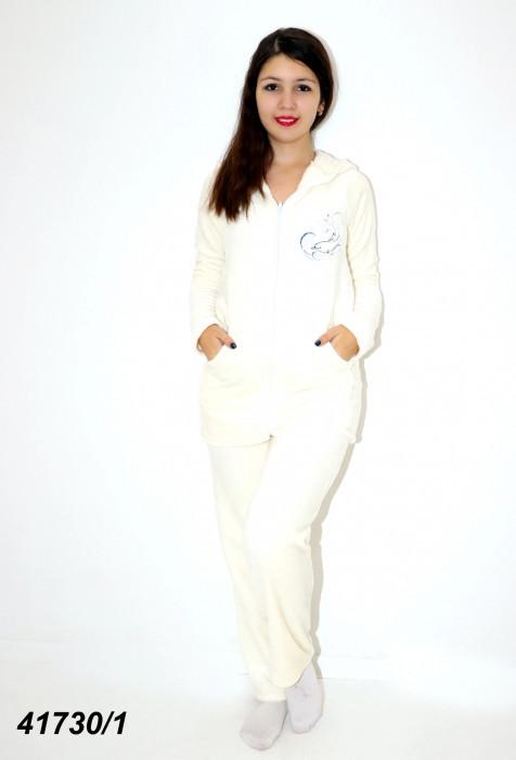 Теплая белая махровая пижама женская  42 44 46 48