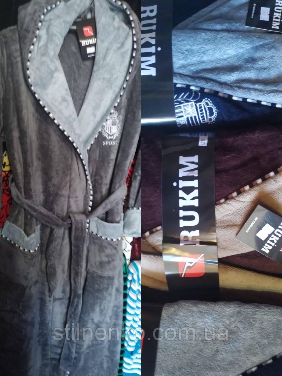 Мужской натуральный халат Rukim, 100% хлопок