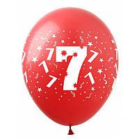 """Латексні повітряні кульки """"Цифра """"7"""", (10шт/уп), SDR-16, ArtShow"""