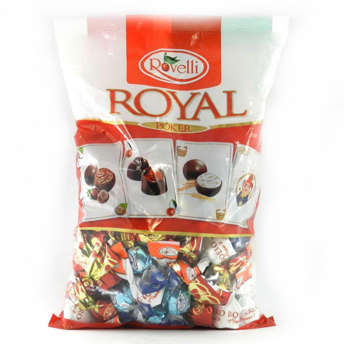 Шоколадные конфеты «Rovelli Royal Poker» с начинками 900 g. Италия