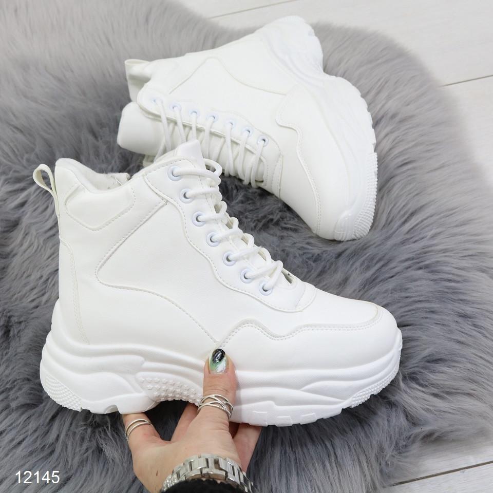 Ботинки на платформе со шнурками
