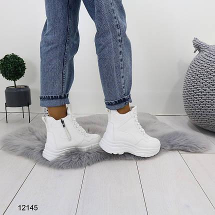 Ботинки на платформе со шнурками, фото 2