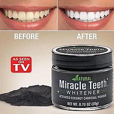Отбеливатель зубов Miracle Teeth Whitener, черная зубная паста, натуральная зубная паста. отбеливатель зубов, фото 2
