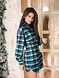 Сукня сорочка жіноча стильне в клітку, фото 2