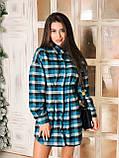 Сукня сорочка жіноча стильне в клітку, фото 3