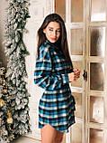 Сукня сорочка жіноча стильне в клітку, фото 4
