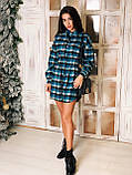 Сукня сорочка жіноча стильне в клітку, фото 5