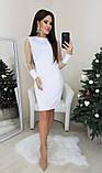Платье женское вечернее чёрное, белое, бежевое, 42-44, 44-46, фото 4