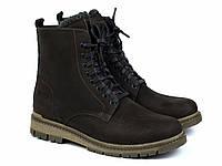 Зимние ботинки мужские берцы замшевые на меху коричневые Rosso Avangard Doks Brown Diamond, фото 1