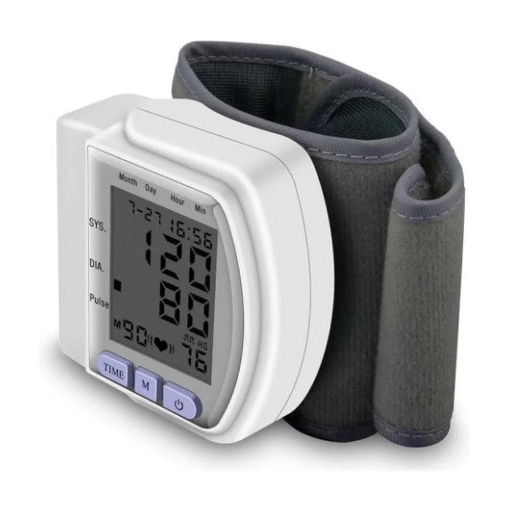 Тонометр автоматический на запястье CK-102S + пластиковый чехол, прибор для измерения давления, цвет белый