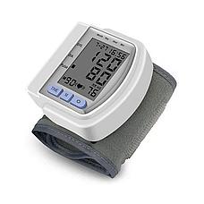Тонометр автоматический на запястье CK-102S + пластиковый чехол, прибор для измерения давления, цвет белый, фото 2