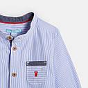 Рубашка для малыша голубая в полоску Okaidi (Франция),  для новорожденного мальчика, фото 3