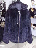 """Куртка-шуба из вязаной норки модель """"Каролина"""" ( с подкладкой)"""