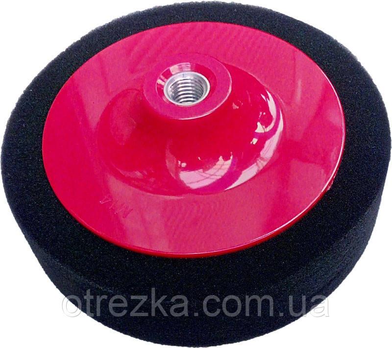Поролоновый полировальный круг на болгарку черный 150*45 мм