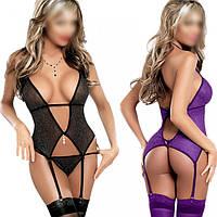 🧡Сексуальный комплект | сексуальный комплект, пеньюар, ночнушка, комплект с подвязками, боди с подвязками, порно эротика извращение удовольствие