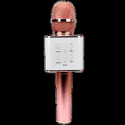 Беспроводной  Bluetooth караоке  микрофон  Kronos Q7  цвет  розовое\золото