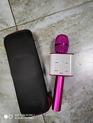 Беспроводной  Bluetooth караоке  микрофон  Kronos Q7  цвет  ярко\розовый