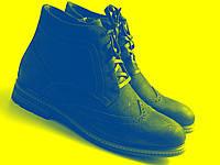 Великий розмір зимові черевики хайкери чоловічі замшеві на хутрі Rosso Avangard Rangers Crystal Rangers Brown BS