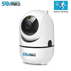 Смарт интеллектуальная IP-камера Sovmiku SF01A 720P. Android, iOs, PC. Cloud/micro SD.YCC365Plus