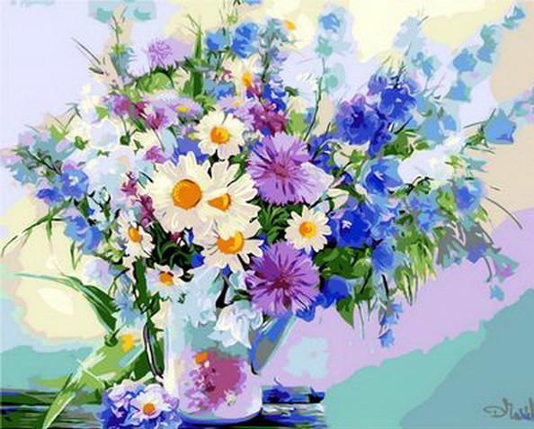 Картина по номерам Полевые цветы Дыхание лета 50х40см Mariposa Turbo