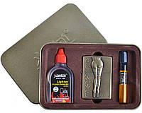 """Подарочный набор для мужчин """"SEXY"""" №4713-4 3в1: металлическая зажигалка, бензин, мундштук. Низкая цена"""