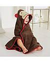 """Полотенце уголок """"Обезьянка"""" SkipHop (США), детское банное полотенце скип хоп 86*86 см мальчика, фото 2"""