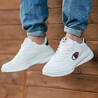 Кроссовки мужские белые модные Хит