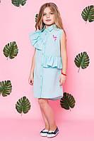 Платье детское летнее с фламинго