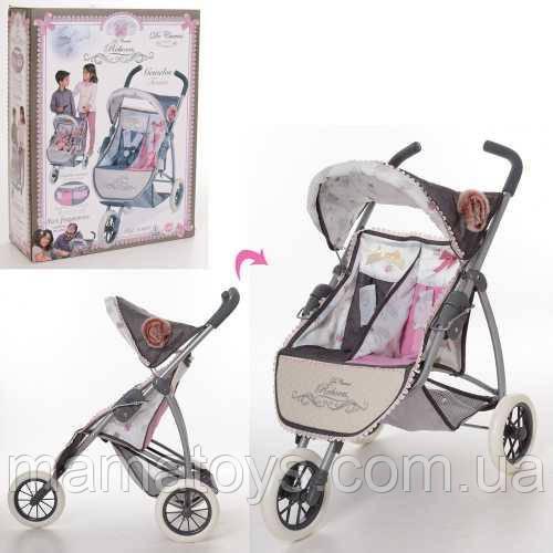 Коляска 90331 Прогулочная для куклыDeCuevas 70-48-75 см, 2-х местная корзинка, для кукол двойняшек