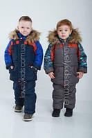 Детский зимний костюм для мальчика, комбинезон