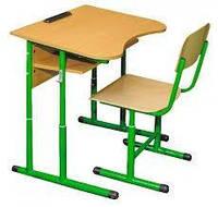 Парта школьная ученическая+стул ученический (набор).Мебель для школы