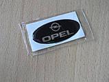 Наклейка s надпись овал Opel 45х20х1.2мм силиконовая эмблема Уценка приподнимается на авто Опель, фото 2