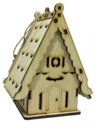 Домик-шкатулка №3 из фанеры 11 х 9 х 17 см.