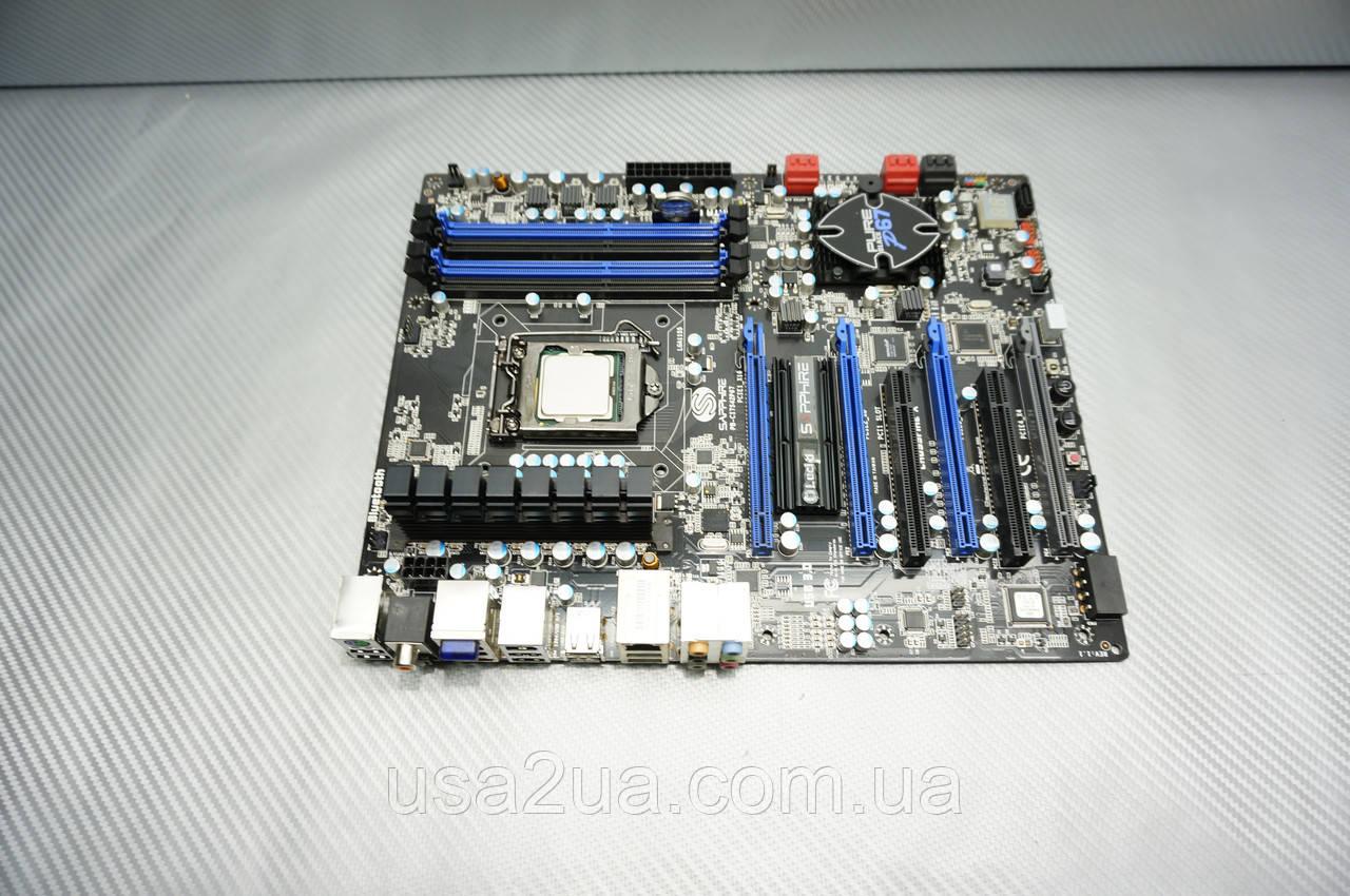 Комплект Материнская плата Sapphire Pure Black P67 Hydra + i7-2600k + dd3 16gb кредит гарнтия