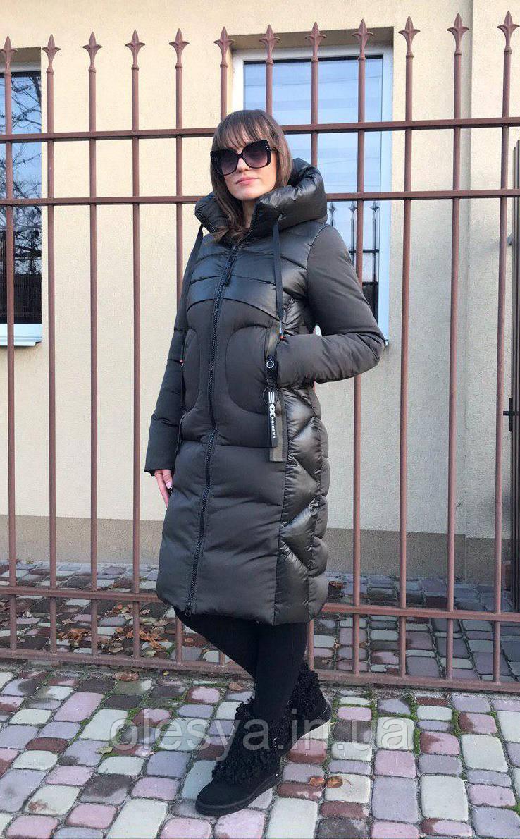 Пуховик зимний женский молодежный на биопухе Берта Размеры 44- 56