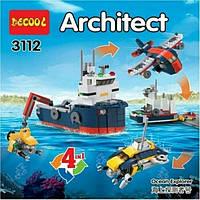 Конструктор Decool Architect 3112 Architect «4 в 1», 213 дет
