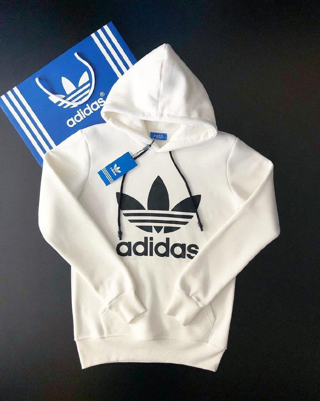 😜 Свитшот - Мужская худи белая Adidas