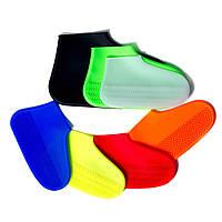 Силиконовые водонепроницаемые чехлы(бахилы) от дождя и грязи на обувь многоразовые, размер L