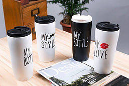 Чашка керамическая  My Bottle, My Style, My Love 450мл