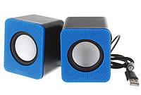 Компьютерные колонки USB D-01L синие