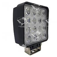 48W / 60 (16 x 3W / широкий луч, квадратный корпус) 3500 LM LED фара рабочая квадратная 48W, 16 ламп, 10-30V, фото 1