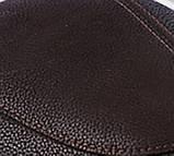 Мужская кепка коричневая из натур кожи дестрой реглан 56 57 58 59 60, фото 3