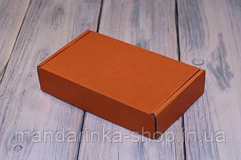 Коробка картонна 185 х 110 х 37 мм, самозбірна (помаранчева)