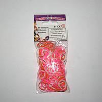 Набор резиночек для плетения Bandz Loom Maker 300шт. (розовый, оранжевый, белый)
