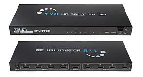 HDMI 1 вход 8 выходов сплиттер, разветвитель, коммутатор, HD, 3D