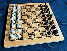 Шахматы-нарды-шашки 3 в 1 из дерева